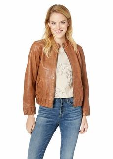 Lucky Brand Women's ANA Leather Jacket  XL