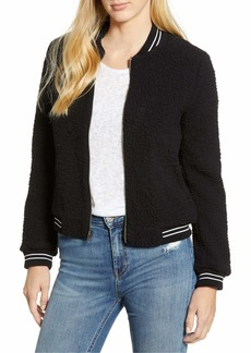 Lucky Brand Women's ANAELISA Sherpa Bomber Jacket  M