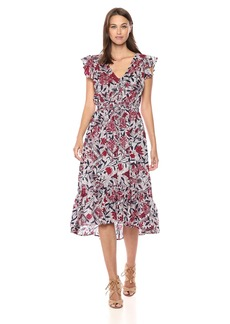Lucky Brand Women's Asymmetrical Dress  L