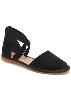 Lucky Brand Women's Atlyi Elastic Ankle-Strap Flats Women's Shoes