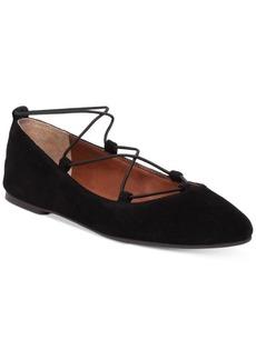 Lucky Brand Women's Aviee Lace-Up Ballet Flats Women's Shoes