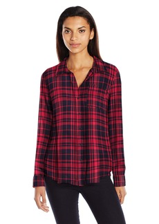Lucky Brand Women's Back Overlay Shirt