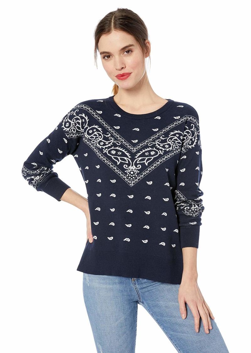 Lucky Brand Women's Bandana Pullover Sweater  XL
