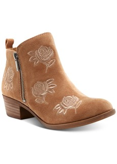 Lucky Brand Women's Basel Embroidery Booties, Created for Macy's Women's Shoes