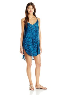 Lucky Brand Junior's Batik Chic Knit Tulip Side Dress Cover up  L