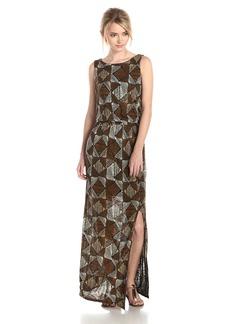 Lucky Brand Women's Batik Dot Diamonds Maxi Dress