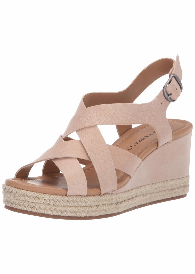 Lucky Brand Women's BAYMEER Wedge Sandal   M US
