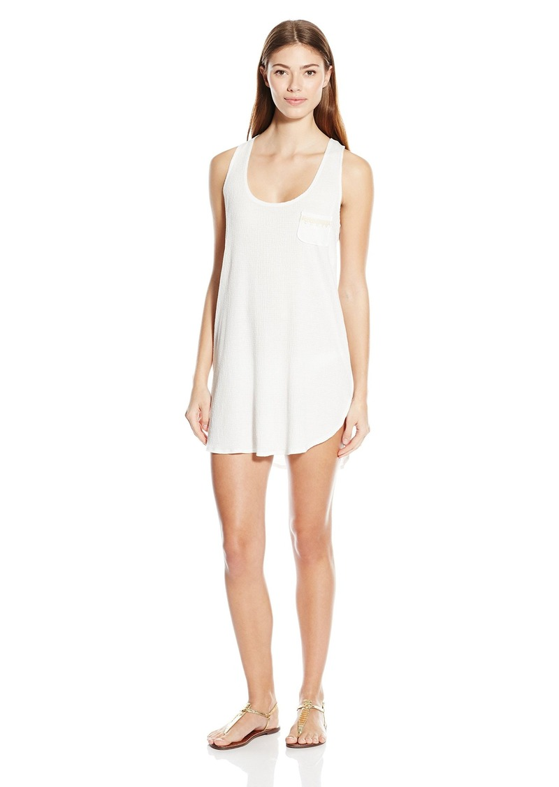 Lucky Brand Women's  Beach Cover Up Dress with Crochet Back