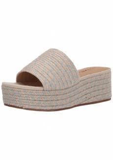 Lucky Brand Women's BEFANNI Espadrille Wedge Sandal Desert sage  M US