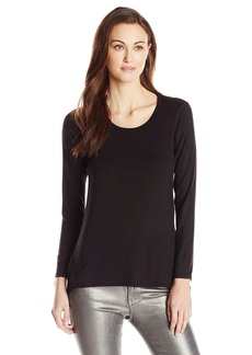Lucky Brand Women's Black Contrast Top