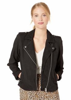 Lucky Brand Women's Black Zip Up Moto Jacket Lucky XS