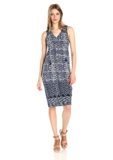 Lucky Brand Women's Blue Batik Dress