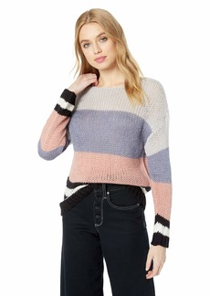 Lucky Brand Women's Bold Stripe Pullover Sweater  M