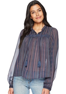 Lucky Brand Women's Border Print Peasant TOP in  XL