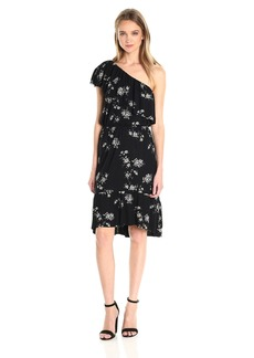 Lucky Brand Women's Botanical Ruffle Dress