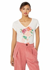 Lucky Brand Women's Bouquet V Neck TEE  S