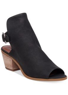 Lucky Brand Women's Bray Buckle Slingback Peep-Toe Booties Women's Shoes