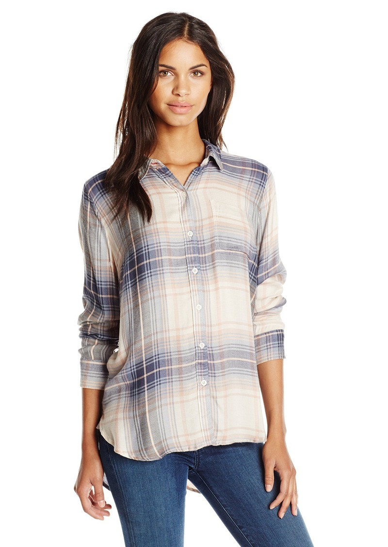 Lucky brand lucky brand women 39 s bungalow flannel shirt for Women s slim fit flannel shirt