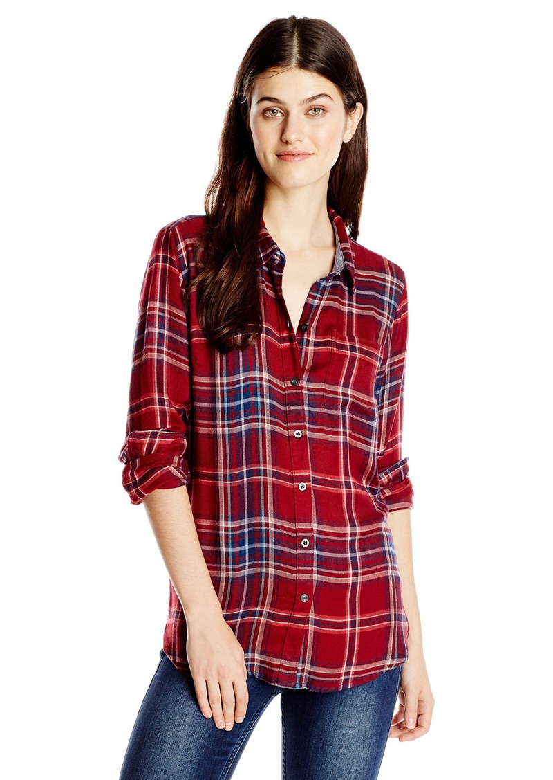 Lucky brand lucky brand women 39 s bungalow flannel shirt red for Best flannel shirt brands