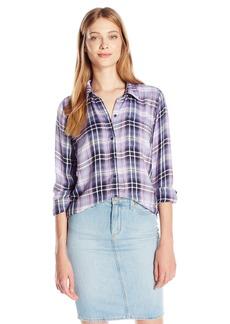 Lucky Brand Women's Bungalow Plaid Shirt  Large