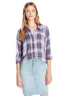 Lucky Brand Women's Bungalow Plaid Shirt  Small