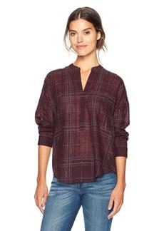 Lucky Brand Women's Burgundy Plaid Shirt Multi