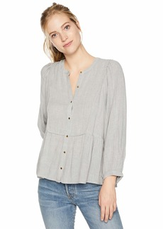 Lucky Brand Women's Button Front Peasant TOP  M