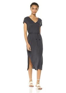 Lucky Brand Women's Button Sleeve Knit Dress  L