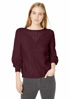 Lucky Brand Women's Cable Knit Sweater  XL