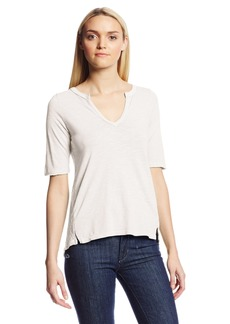 Lucky Brand Women's Calistoga Crochet Back Top