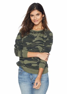Lucky Brand Women's CAMO Pullover Sweatshirt  S