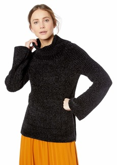Lucky Brand Women's Chenille Cowl Neck Sweater  S