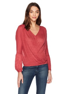 Lucky Brand Women's Choker Wrap Top  S