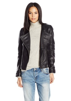Lucky Brand Women's City Leather Jacket  Large