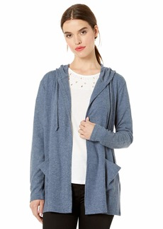 Lucky Brand Women's Cloud Jersey Hooded Cardigan Sweater  S