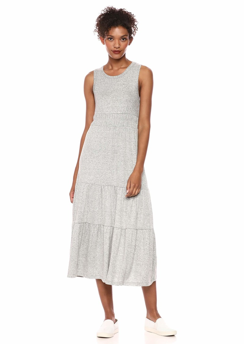 Lucky Brand Women's Cloud Jersey Tiered Maxi Dress HEG M