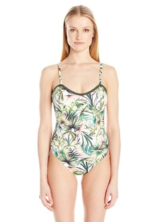 Lucky Brand Junior's Coastal Palms One Piece Swimsuit  S