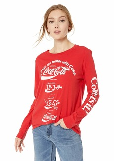 Lucky Brand Women's COCA COLA Language TEE red XL