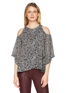Lucky Brand Women's Cold Shoulder Open Front TOP  S