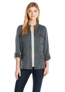 Lucky Brand Women's Collarless Military Jacket