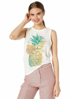 Lucky Brand Women's Colorful Pineapple Tank TOP  S