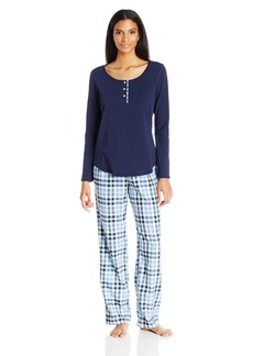 Lucky Brand Women's Contrast Placket Pajama  M