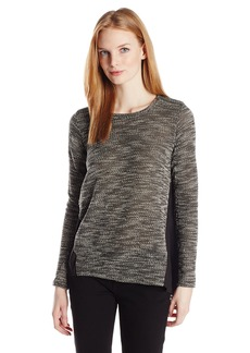 Lucky Brand Women's Contrast Textured Top