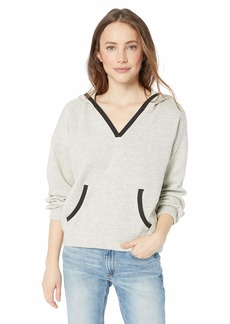 Lucky Brand Women's Contrast Trim Hooded Sweatshirt  L