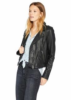 Lucky Brand Women's CORE Moto Jacket Black L