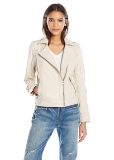 Lucky Brand Women's Cream Moto Jacket