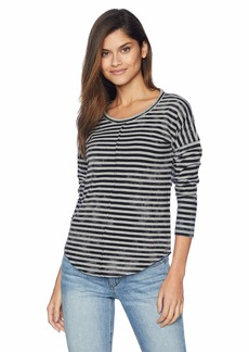 Lucky Brand Women's Crew Neck Stripe TEE  XL