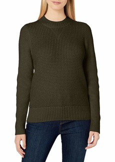 Lucky Brand Women's Crew Neck Waffle Knit Sweater  X Large