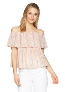 Lucky Brand Women's Crinkle Shine TOP  M