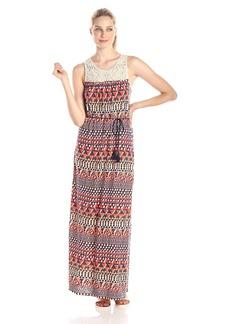 Lucky Brand Women's Crochet Maxi Dress